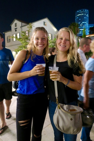 Hannah R. and I at the Oktoberfest in TLV