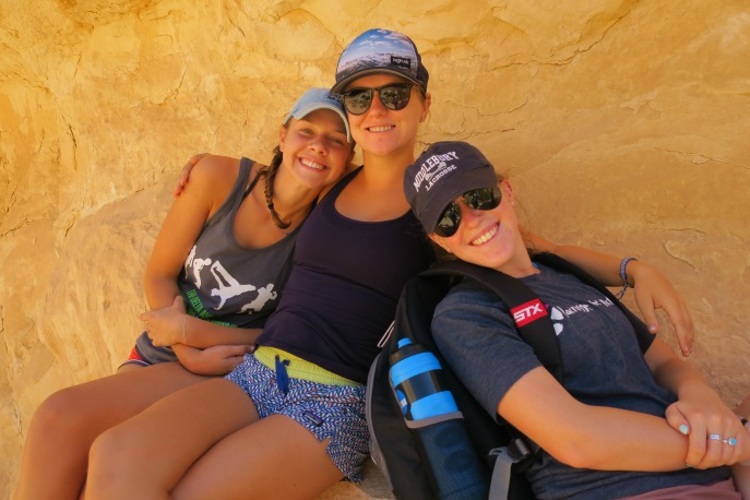 Hannah R., me, and Alex hiking in the Negev