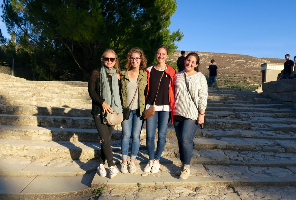 me, Mimi, Hannah R., and Felice visiting the ruins
