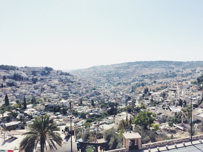 view of East Jerusalem from the Old City