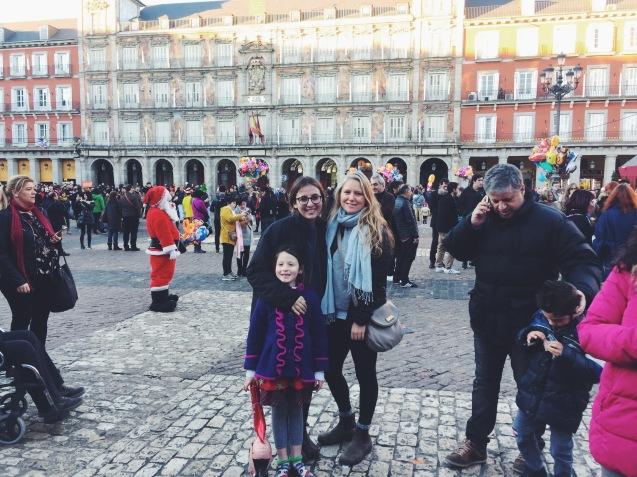Ya'el, Naomi, and I in Madrid