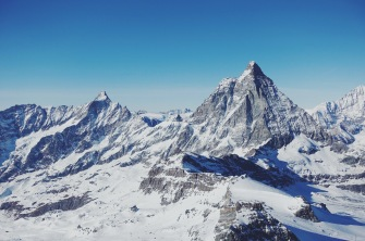 looking out at the Matterhorn while on the Italian-Swiss border...also skiing...basically heaven