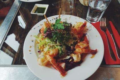my 32 franc shrimp salad...ridiculous but delicious
