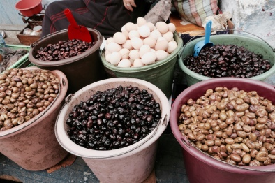 olives and eggs in Morocco