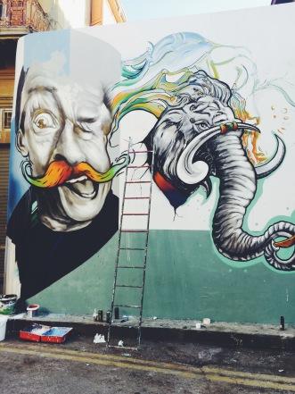 street art on the Turkish side of Cyprus