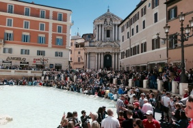 Trevi on a glorious April day