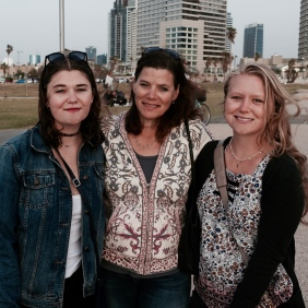 H, Mom, and I in Jaffa