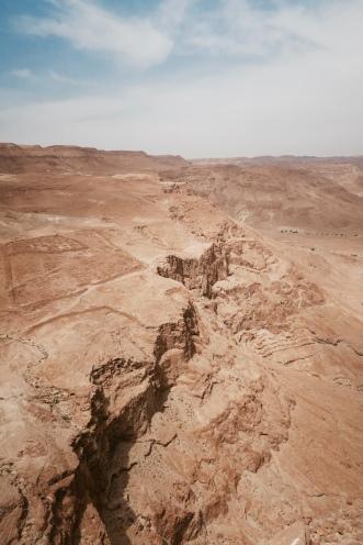 view from Masada north