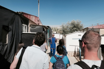"PR rep gives us a tour of the Black Hebrews' ""Village of Peace"" in Dimona"