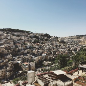view of East Jerusalem from City of David