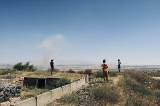 Syrian-Israeli border in the Golan Heights