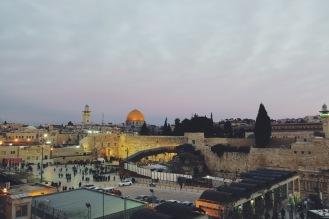 holy sites at dusk