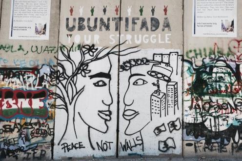 "graffiti on ""The Wall"""