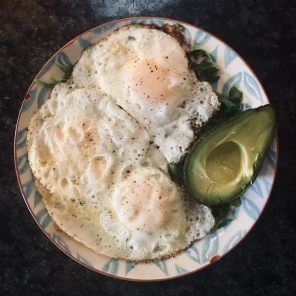 local eggs + avo